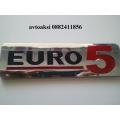 Емблема Euro4 и Euro5 никелирани размери 170/50мм!!!