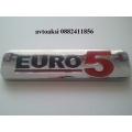 Емблема  Euro5 никелирани размери 100/25мм!!!