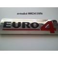 Емблема Euro4  никелирани размери 170/50мм!!!