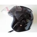 Каска за Скутер Черен Лак Lux 722-1