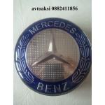Kапачки за джанти Mercedes 75 мм  сини цената е за 1бр
