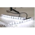 Дневни светлини LED 12V 6000K E4 MARK сертификат 9 диода
