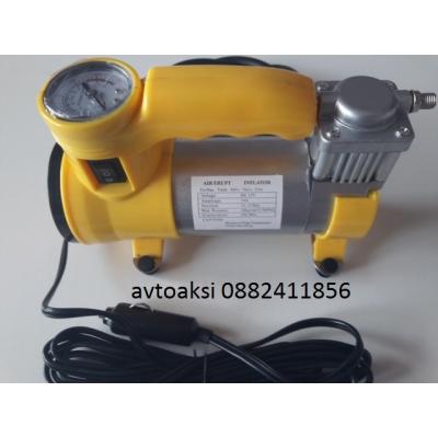 Компресор за пом.на гуми алуминиев корпус с аварийна лампа