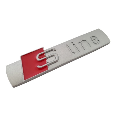 Надпис S-line метална сив мат