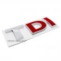 Емблема/Надпис TDI  двете чèрвени букви