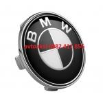 Капачки за джанти БМВ 68мм Черно/Бели