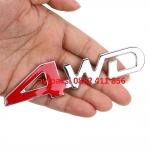 Емблема 3D метална 4WD червена