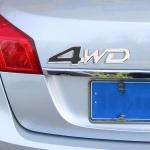 Емблема 3D метална 4WD черна