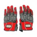 Мото ръкавици два цвята Червени