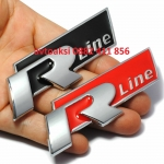 Емблема R line за предна решетка метална Черна