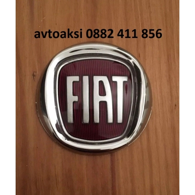 Емблема FIAT/Фиат червено/хром 75мм предна