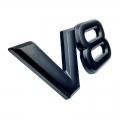 Емблема метални V8 черна мат