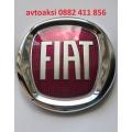 Емблема FIAT/ФИАТ Червено/Хром 120мм