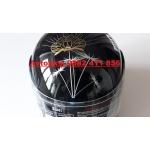 Каска за мотор Дамска черна лак-825