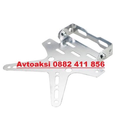 Стойка за номер за мотор,скутер,АТВ- 2536 -Сива