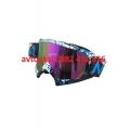 Мото Очила цетно стъкло -J102 WHITE / BLUE