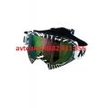 Мото очила цветно стъкло -J100 WHITE / GREEN