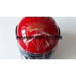 Каска за мотор Дамска Червена-825