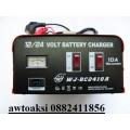Зарядно за акумолатор метално10а 12/24v комбинирано чисто ново