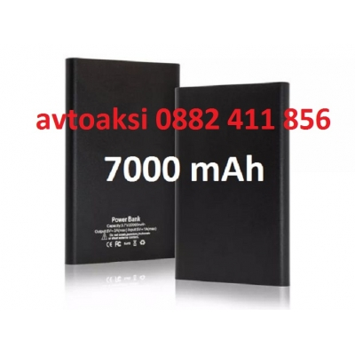 Външна батерия/power bank/ 7000mAh, черна