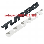 3D Метална емблема TURBO Черна