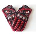 Мото ръкавици червени с протектор