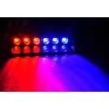 LED сигнално осветление синьо/червено с 6 диода