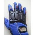 Мото ръкавици с гумен протектор в три цвята!!! сини