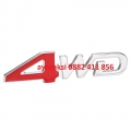 Надпис 3D метална 4WD --16585-1
